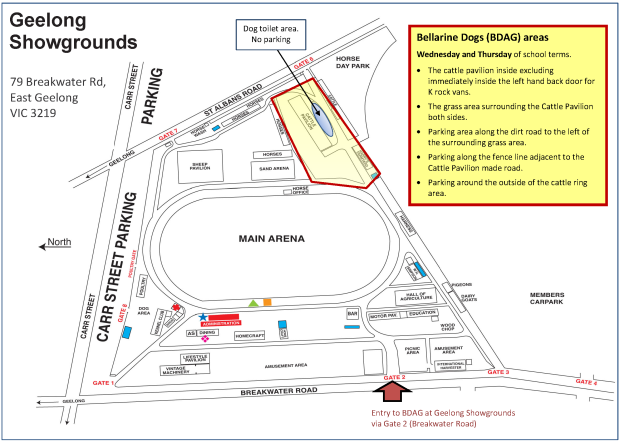 Map of Geelong showgrounds